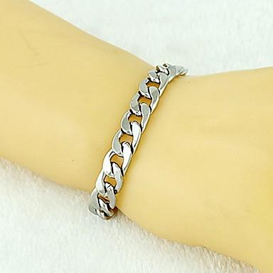 levne Pánské šperky-Pánské Řetězové & Ploché Náramky Silný řetězec stylové Nadsázka Slitina Náramek šperky Stříbrná Pro Denní