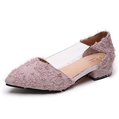 nouveau concept 255aa ab4bc [$17.49] Femme Polyuréthane Eté Escarpin Basique Chaussures à Talons Talon  Plat Bout pointu Noir / Rose / Quotidien