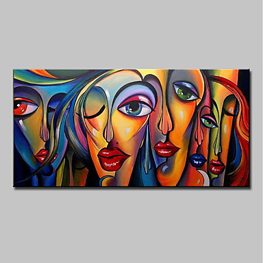 cheap Wall Art-Mintura® Large Size Hand Painted Abstract Sexy Girl Oil Painting On Canvas Modern Wall Art Picture For Home Decoration No Frame