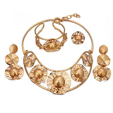 6d4f7cd8aec Mulheres Multi Camadas Conjunto de jóias Banhado a Ouro 18K senhoras ...