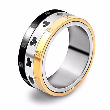 levne Pánské šperky-Pánské Band Ring Prsten na více prstů 1ks Zlatá / černá Nerezové Kulatý stylové Jedinečný design Hip-hop Street Jdeme ven Šperky Stylové Zvíře Cool