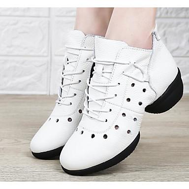 11c32448c30c3 نسائي بوط رقص Leather نابا سينكرز كعب كوبي أحذية الرقص أبيض   أسود   أحمر  داكن   أداء   تمرين 6780581 2019 –  69.99