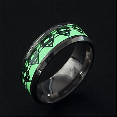 levne Pánské šperky-Pánské Band Ring Světelný kámen 1ks Stříbrná Nerez Kulatý Jedinečný design Tetování Módní Street Klub Šperky Retro Cool