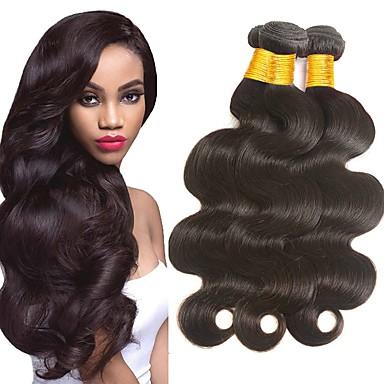 povoljno Ekstenzije od ljudske kose-4 paketića Indijska kosa Tijelo Wave Remy kosa Headpiece Ljudske kose plete Produžetak 8-28inch Prirodna boja Isprepliće ljudske kose novorođenče Waterfall Mini Proširenja ljudske kose