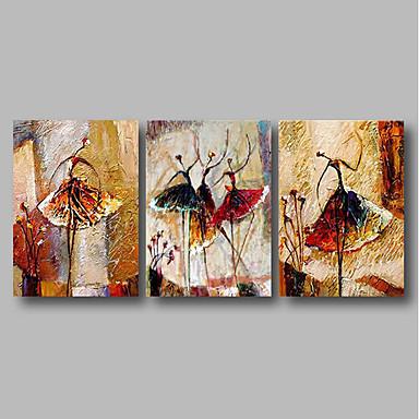 povoljno Ulja na platnu-Hang oslikana uljanim bojama Ručno oslikana - Sažetak Comtemporary Uključi Unutarnji okvir / Tri plohe / Prošireni platno