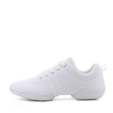 preiswerte Tanz Sneaker-Damen Tanzschuhe Gestrickt Tanz-Turnschuh Sneaker Starke Ferse Maßfertigung Weiß / Leistung / Praxis / EU39