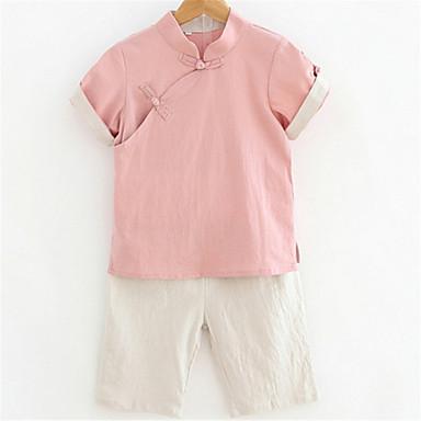 preiswerte Kleidersets für Jungen-Baby Jungen Grundlegend Solide Kurzarm Kleidungs Set Grün