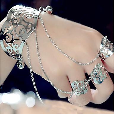 levne Dámské šperky-Dámské Široké náramky Náramky kreativita Otroci zlata Prohlášení dámy Nadsázka Módní Slitina Náramek šperky Zlatá / Stříbrná Pro Večerní oslava Bar Cosplay kostýmy