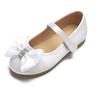 cf6b09f412946 [$29.99] ADOR® Girls' Shoes Satin Spring & Summer Ballerina / Flower Girl  Shoes Flats Bowknot / Sparkling Glitter / Buckle for Kids White / Ivory /  ...