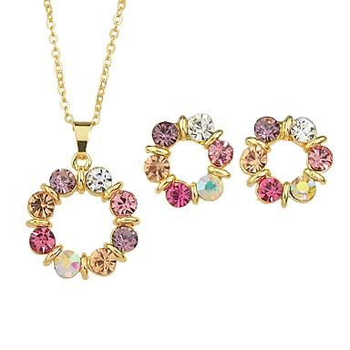 levne Dámské šperky-Dámské Turmalín Peckové náušnice Náhrdelníky s přívěšky Lustr dámy Jednoduchý Módní Náušnice Šperky Zlatá Pro Obřad Rande