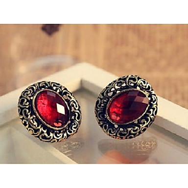 Women S Aaa Cubic Zirconia Vintage Style Hollow Out Earrings Precious European Elegant Black Wine For Evening Party Formal 6836320 2018