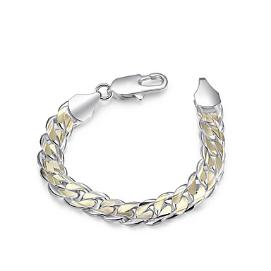 Men S Thick Chain Single Strand Bracelet Silver Plated Snake Simple Basic For Daily Work 6794185 2018 10 99