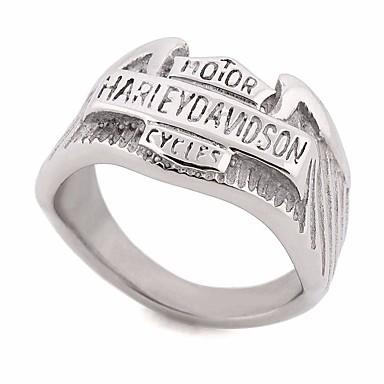 billige Ringer for Par-Par Ring 1pc Sølv Rustfritt stål Rund Geometrisk Form damer Stilfull Europeisk Gate Klubb Smykker Vintage Stil Elegant Matchende Bokstaver Kul