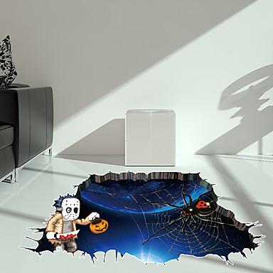 [$8.04] Bodenaufkleber - 3D Wand Sticker Halloween / 3D Wohnzimmer /  Schlafzimmer / Badezimmer