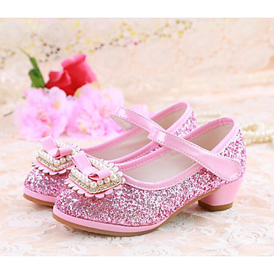 baa43278265 Girls  Shoes Synthetics Spring   Fall Flower Girl Shoes   Tiny Heels for Teens  Heels for Gold   Silver   Pink 6840425 2019 –  26.99