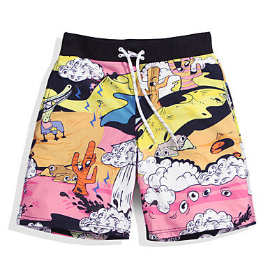 CHLZYD Fast-Drying Mens Color Shorts Swimming Beach Shorts Flower Surfboard Shorts Swi Surfing Diving Snorkeling