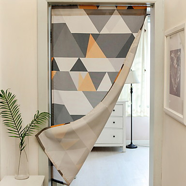 [$41.99] Door Panel Curtains Drapes Dining Room Geometric Polyester Printed
