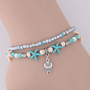 Beads Ankle Bracelet Resin Owl Starfish Vintage Holiday Fashion Blue For Women S 6816942 2018 2 99