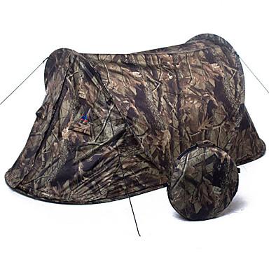 preiswerte Zelte & Unterkünfte-1 Person Pop-Up-Zelt Außen Leicht UV-beständig Atmungsaktivität Eine Schicht Sekundenzelt Camping Zelt 2000-3000 mm für Camping / Wandern / Erkundungen Terylen 200*90*85 cm