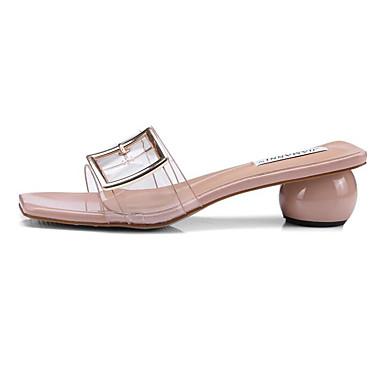 voordelige Damessandalen-Dames Sandalen Heterotypic Heel Synthetisch Comfortabel Zomer Wit / Geel / Roze