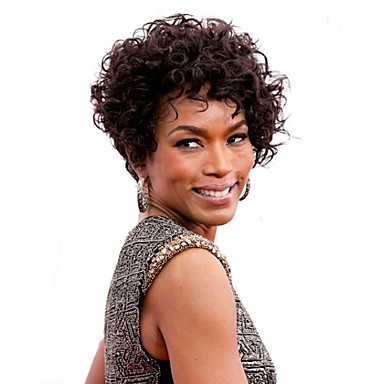 Synthetic Wig Curly Asymmetrical Haircut Synthetic Hair Synthetic