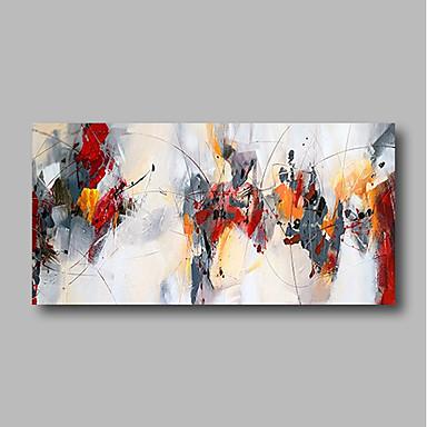 abordables Peintures à l'Huile-Peinture à l'huile Hang-peint Peint à la main - Abstrait Contemporain Moderne Inclure cadre intérieur / Toile tendue