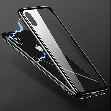 povoljno iPhone maske-Θήκη Za Apple iPhone X / iPhone 8 Plus / iPhone 8 Prozirno Stražnja maska Jednobojni Tvrdo Metal