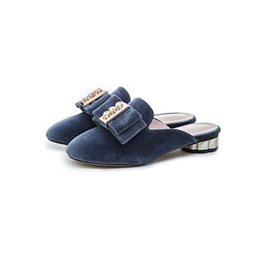 1a3cd09cab09 Women s Comfort Shoes Faux Leather Spring   Summer Clogs   Mules Chunky Heel  Closed Toe Black   Red   Blue 6888568 2019 –  44.99