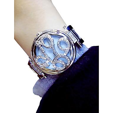 levne Dámské-Dámské Náramkové hodinky Křemenný Stříbro / Zlatá Chronograf Svítící Půvab Analogové dámy Květina Elegantní - Zlatá Stříbrná / imitace Diamond