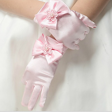 cheap Top Sellers-Toddler Girls' Solid Colored Gloves Black / White / Blushing Pink M / L