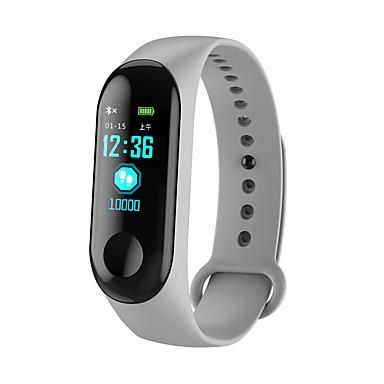 Smart Braslè Smartwatch M3C pou android iOS Bluetooth Espò enpèrmeabl kè To ki monitè kè bebe Tansyon Mezi manyen ekran podomètr Rele Rapèl Dòmi Tracker Aktivite Tracker