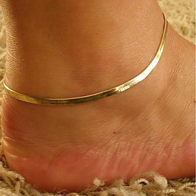levne Dámské šperky-Dámské kotník náramek šperky na nohy Klasika Jeden pruh Levný dámy stylové Klasické Nákotník Šperky Zlatá Pro Denní Jdeme ven