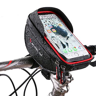 povoljno Torbice za bicikl-Wheel up Mobitel Bag Bike Volan Bag 6 inch Touch Screen Zamišljen Biciklizam za Biciklizam iPhone X iPhone XR Red Crn Mountain Bike Cestovni bicikl / iPhone XS / iPhone XS Max