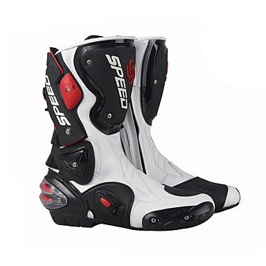 billige Motorsykkel & ATV tilbehør-ridestamme profesjonell racing motocross støvler menns høye sylinder støvler mote lær motorsykkel støvler