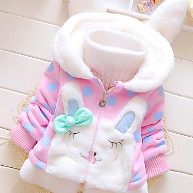 cheap Winter Outerwear-Toddler Girls' Active Polka Dot Long Sleeve Cotton Suit & Blazer Light Blue