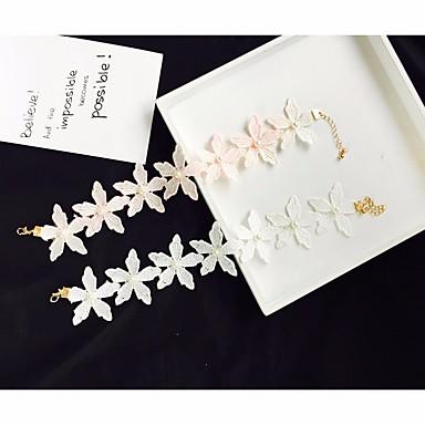 povoljno Modne ogrlice-Žene Slatkovodni biser Choker oglice Perlice Izrezati Cvijet dame Romantični Moda Čipka Obala Crn Pink 34.5 cm Ogrlice Jewelry 1pc Za Dnevno Spoj