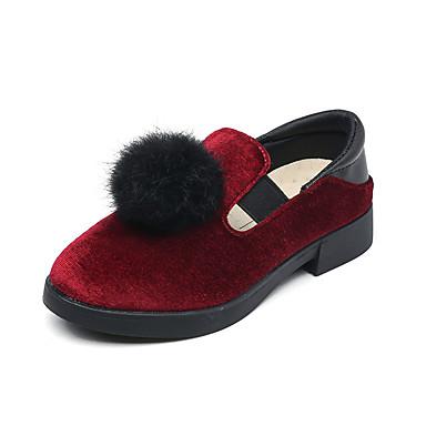 Zapatos 2019 para PU verano Ante Gris Confort Rojo Paseo Primavera Rosa Chica 6853512 Pluma Bailarinas Adolescente dwqZzRd