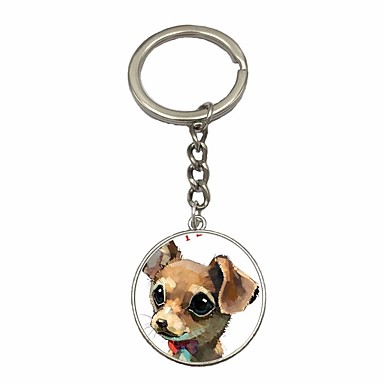 cheap Keychains-Keychain Dog Simple Fashion Ring Jewelry Silver For Daily Date