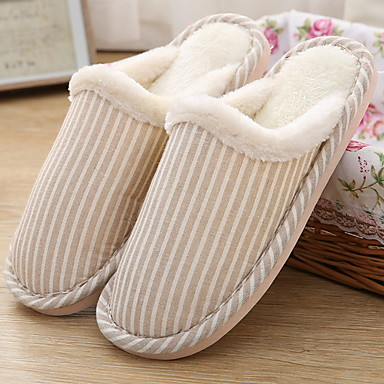 444b3d6487b Women s Slippers House Slippers Stripes   Ripples   Ordinary Polyester solid  color Shoes 6866012 2019 –  10.91