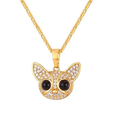 povoljno Modne ogrlice-Žene Ogrlice s privjeskom Sa stilom Psi dame Moda Slatka Style Kamen Zlato Pink 55 cm Ogrlice Jewelry 1pc Za Dar Dnevno