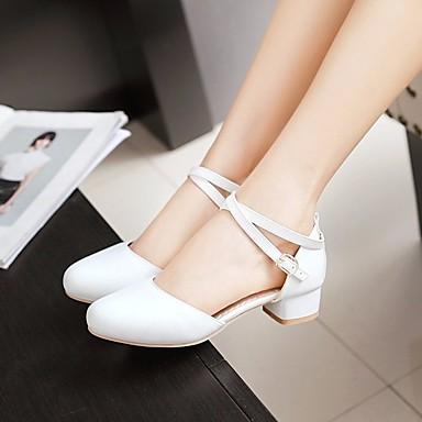 preiswerte Schuhe für Kinder-Mädchen Schuhe für das Blumenmädchen / Tiny Heels für Teens PU High Heels Kleine Kinder (4-7 Jahre) / Große Kinder (ab 7 Jahren) Weiß / Beige / Rosa Frühling & Herbst