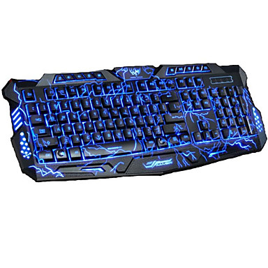 cheap Keyboards-LITBest M200 USB Wired Gaming Keyboard Gaming Luminous Multicolor Backlit 104 pcs Keys