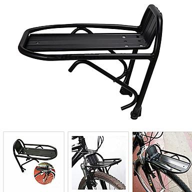 billige Sykkeltilbehør-Bike Cargo Rack Justerbare Lettvekt Enkel å installere Aluminum Alloy Vei Sykkel Fjellsykkel Foldesykkel - Svart