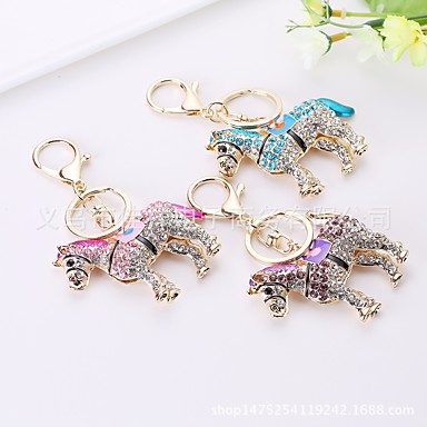 cheap Keychains-Keychain Horse Cartoon Sweet Ring Jewelry Purple / Blue / Pink For Daily Date