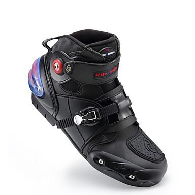 billige Motorsykkel & ATV tilbehør-ridestamme motorsykkel ankel støvler anti-glide racing beskyttende sko motocross motobike off-road moto støvel fotbeskytter - svart