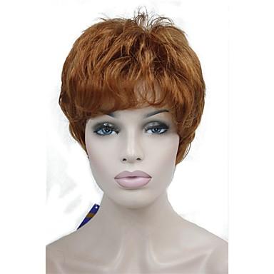 povoljno Perike i ekstenzije-Sintetičke perike Ravan kroj Pixie frizura Perika Kratko Bakar Brown Sintentička kosa 6 inch Žene sintetički Crvena Siva