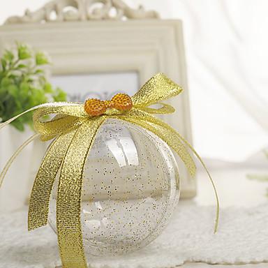 povoljno Svadbeni poklončići-Cirkularno plastika Naklonost Holder s Kombinacija materijala Milost Kutije - 12pcs