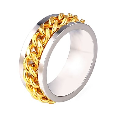 levne Pánské šperky-Pánské Prsten 1ks Stříbrná Nerez Moderní Módní Dar Denní Šperky Laso kreativita