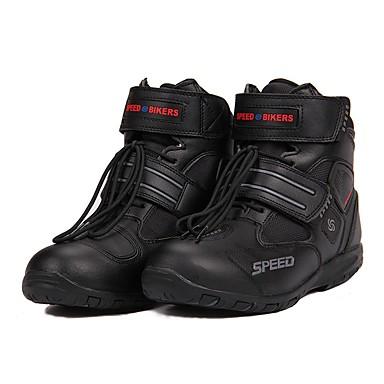billige Motorsykkel & ATV tilbehør-ridestamme pustende motorsykkel støvler moto sko motorsykkel glidende motorsykkel motocross pu skinnsko - svart