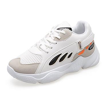 1edbe0035ad Γυναικεία Βουλκανισμένα παπούτσια Συνθετικά Φθινόπωρο Αθλητικά Παπούτσια  Γυμναστική & Cross-training Επίπεδο Τακούνι Στρογγυλή Μύτη Λευκό / Μαύρο /  Μπλε+Ροζ ...